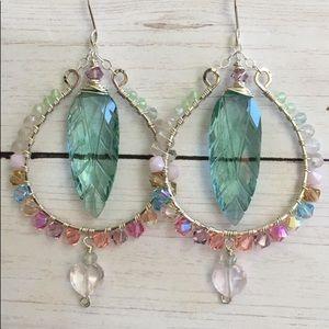 Luxe spring pastel hoops